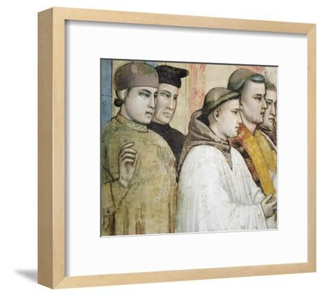 Italy, Florence, Basilica of Holy Cross, Bardi Chapel, Death of St Francis, 1325-1330-Giotto di Bondone-Framed Art Print