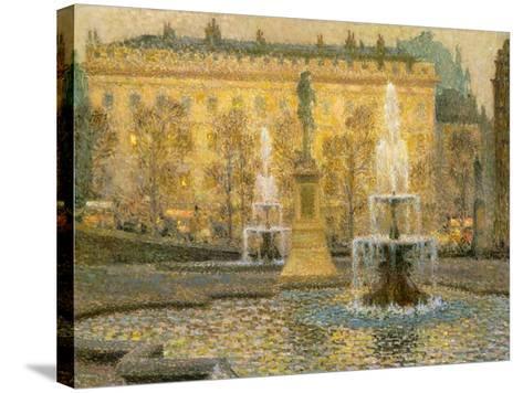 Trafalgar Square, London, 1908-Henri Eugene Augustin Le Sidaner-Stretched Canvas Print