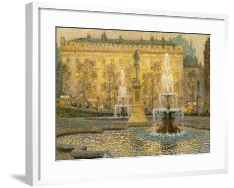 Trafalgar Square, London, 1908-Henri Eugene Augustin Le Sidaner-Framed Art Print