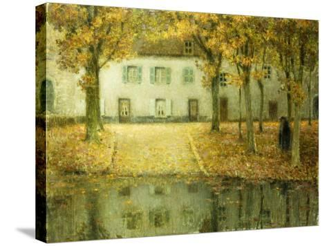 Little Place on the Banks of the Eau at Chartres; Petit Place Au Bord De L'Eau a Chartres, 1902-Henri Eugene Augustin Le Sidaner-Stretched Canvas Print