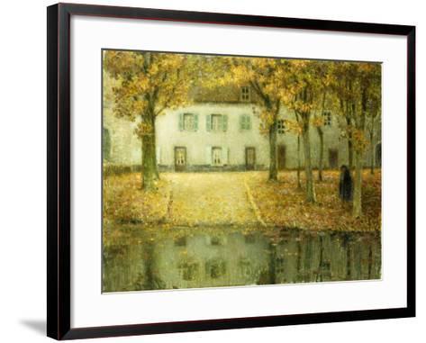 Little Place on the Banks of the Eau at Chartres; Petit Place Au Bord De L'Eau a Chartres, 1902-Henri Eugene Augustin Le Sidaner-Framed Art Print