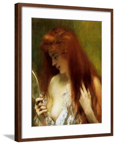 Girl with Red Hair-Henri Gervex-Framed Art Print