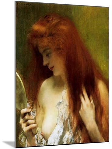 Girl with Red Hair-Henri Gervex-Mounted Giclee Print
