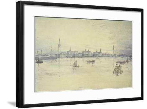 Project for Liverpool Waterfront-Harold Chalton Bradshaw-Framed Art Print