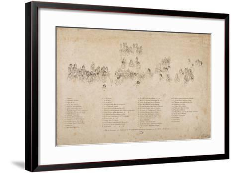The Consecration of the Emperor Napoleon I and the Coronation of the Empress Josephine-Jacques-Louis David-Framed Art Print