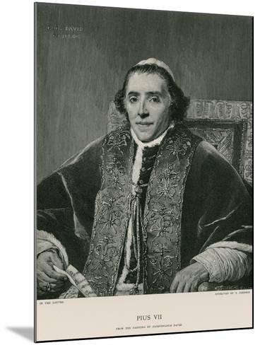 Pope Pius VII-Jacques-Louis David-Mounted Giclee Print