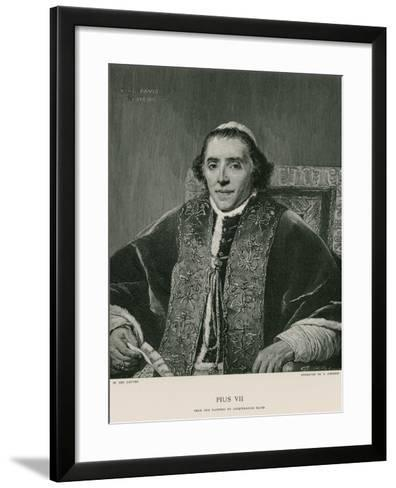 Pope Pius VII-Jacques-Louis David-Framed Art Print