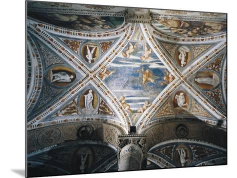 Rape of Ganymede and Putti, Mosaic Niches and Statues-Girolamo Romanino-Mounted Giclee Print