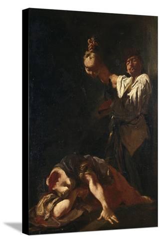 Martyrdom of Sant Eurosia-Giulia Lama-Stretched Canvas Print