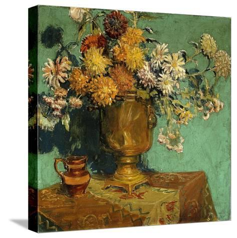 Flowers for Alice, 1928-Grant Wood-Stretched Canvas Print