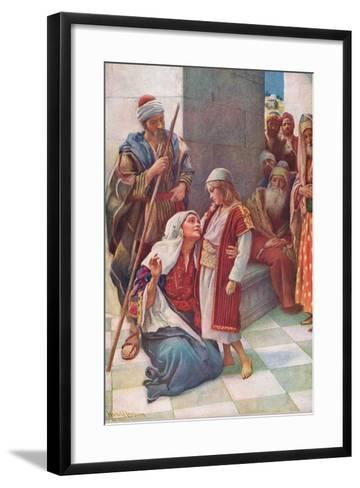 My Fathers Business-Harold Copping-Framed Art Print