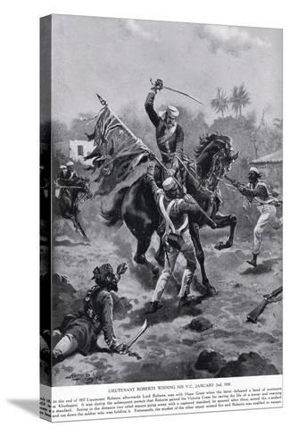 LT Roberts Winning His VC January 1858-Henry A^ Payne-Stretched Canvas Print