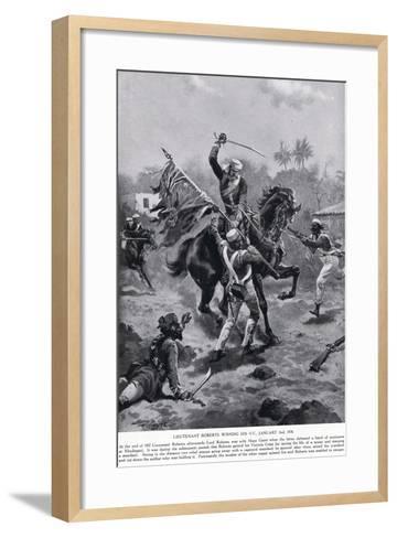 LT Roberts Winning His VC January 1858-Henry A^ Payne-Framed Art Print