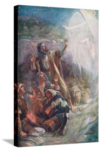 The Nativity-Harold Copping-Stretched Canvas Print