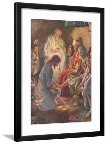 A Lesson in Humility-Harold Copping-Framed Art Print