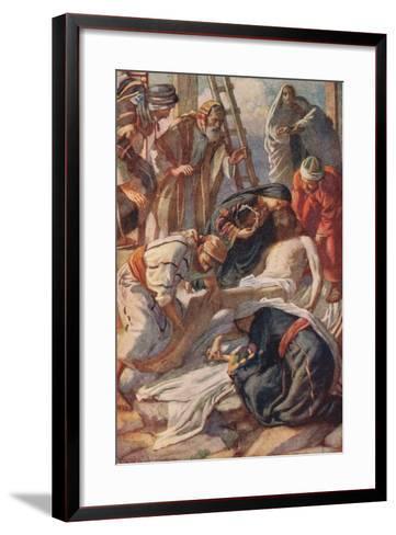 At the Cross-Harold Copping-Framed Art Print