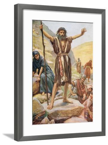 John the Baptist-Harold Copping-Framed Art Print