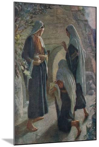Woman at the Sepulchre-Harold Copping-Mounted Giclee Print
