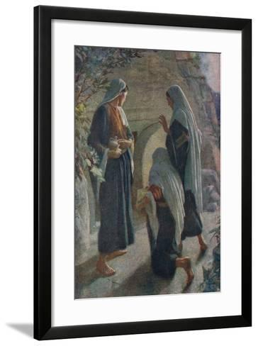 Woman at the Sepulchre-Harold Copping-Framed Art Print