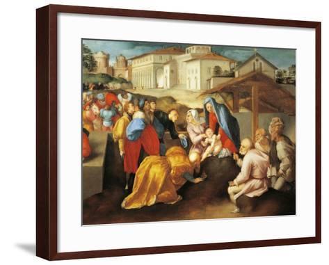 Detail of Central Part of Adoration of Magi or Epifania Benintendi-Jacopo Da Pontormo-Framed Art Print