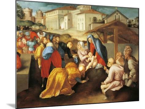 Detail of Central Part of Adoration of Magi or Epifania Benintendi-Jacopo Da Pontormo-Mounted Giclee Print