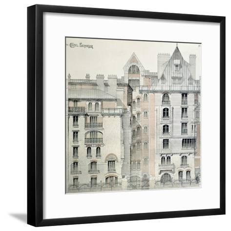 Rear Facade of Castel Beranger in Paris, 1894-98-Hector Guimard-Framed Art Print