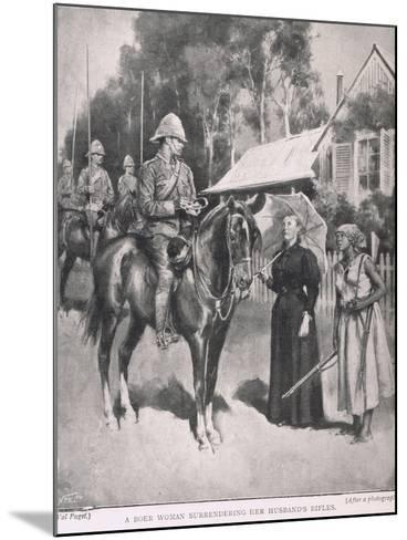 A Boer Woman Surrendering Her Husband's Rifles-Henry Marriott Paget-Mounted Giclee Print