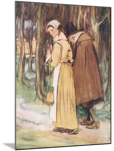 A Young Maiden Glancing at the Scarlet Letter-Hugh Thomson-Mounted Giclee Print