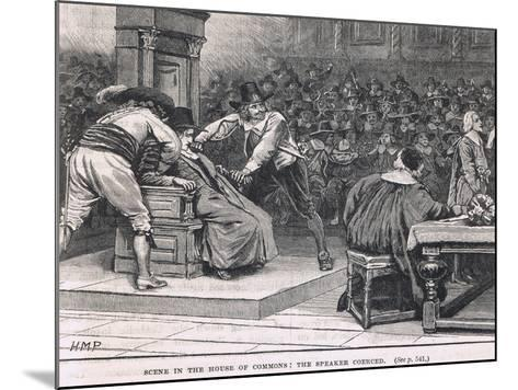 Scene in the House of Commons: the Speaker Coerced 1630-Henry Marriott Paget-Mounted Giclee Print