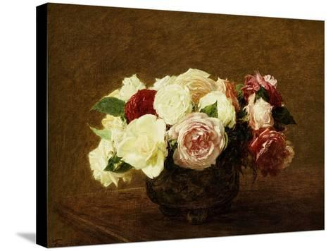 Roses, 1894-Henri Fantin-Latour-Stretched Canvas Print