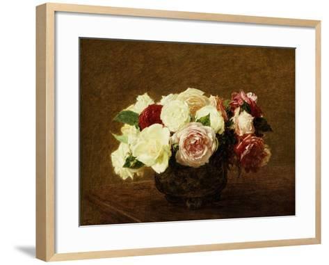 Roses, 1894-Henri Fantin-Latour-Framed Art Print