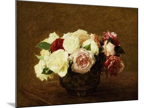 Roses, 1894-Henri Fantin-Latour-Mounted Giclee Print