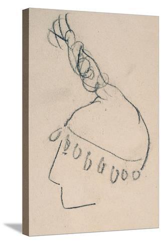 La Clownesse, Sketch of Jane Avril-Henri de Toulouse-Lautrec-Stretched Canvas Print
