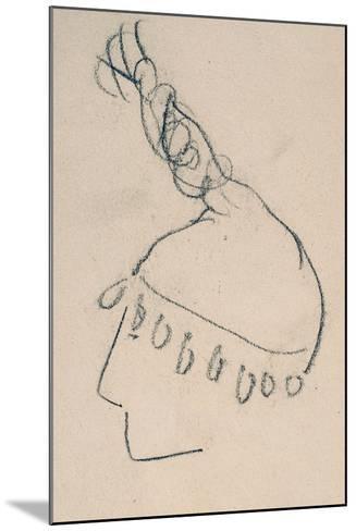 La Clownesse, Sketch of Jane Avril-Henri de Toulouse-Lautrec-Mounted Giclee Print