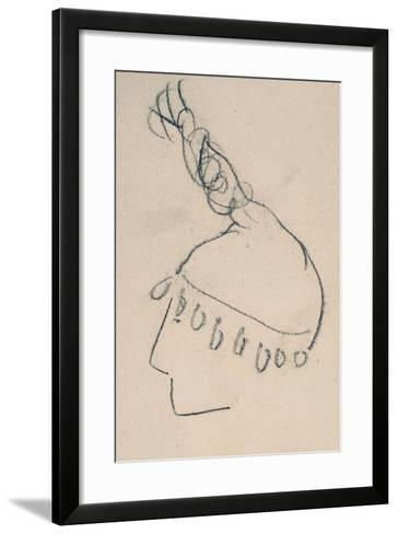 La Clownesse, Sketch of Jane Avril-Henri de Toulouse-Lautrec-Framed Art Print