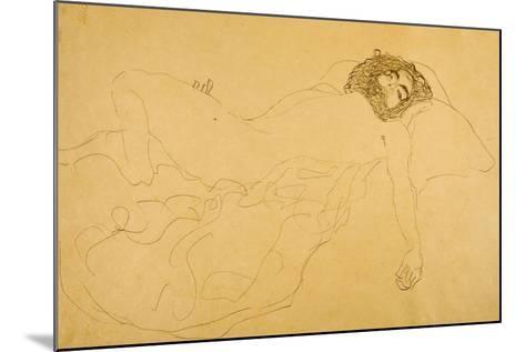 Reclining Nude-Gustav Klimt-Mounted Giclee Print