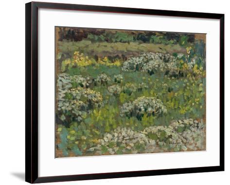 The Pond Garden, Hampton Court-Henri Eugene Augustin Le Sidaner-Framed Art Print