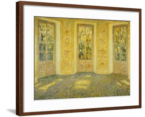 Windows on the Parc; Fenetres Sur Le Parc, 1938-Henri Eugene Augustin Le Sidaner-Framed Art Print