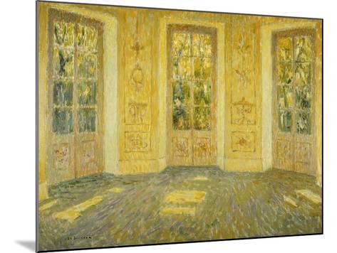 Windows on the Parc; Fenetres Sur Le Parc, 1938-Henri Eugene Augustin Le Sidaner-Mounted Giclee Print