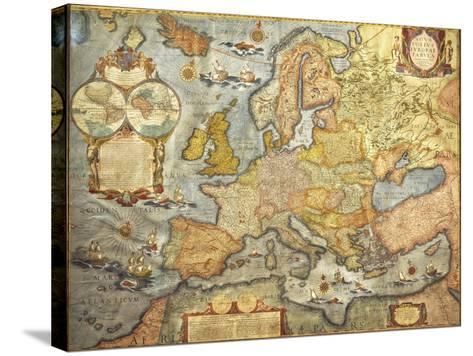Map of Europe 1686-Joan Blaeu-Stretched Canvas Print