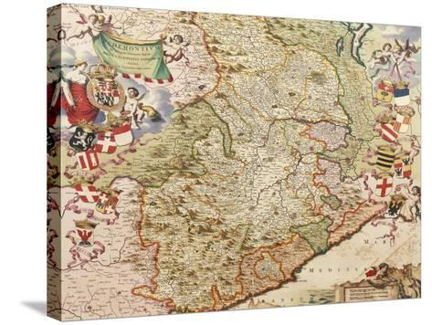 Map of Turin, 1682-Joan Blaeu-Stretched Canvas Print