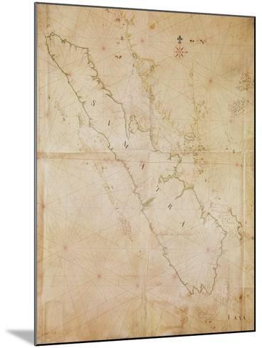 Ms 1288 Chart of Sumatra, 1653-Joan Blaeu-Mounted Giclee Print