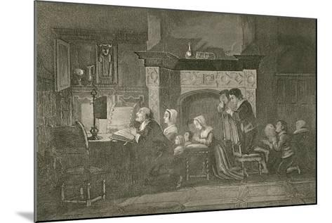 The Grocer and His Family at Prayers-John Franklin-Mounted Giclee Print