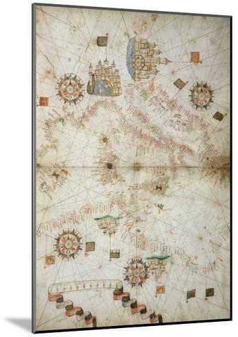 Detail of Map of Mediterranean Sea, from Nautical Atlas, 1571-Joan Martines-Mounted Giclee Print