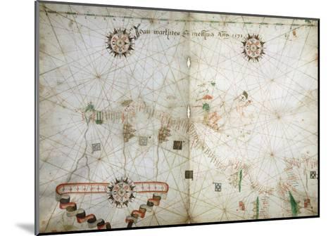 Detail of Map of North East Atlantic, from Nautical Atlas, 1571-Joan Martines-Mounted Giclee Print