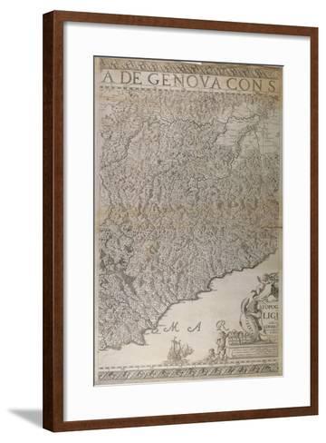Map of Liguria, 2nd Part-Joseph Chaffrion-Framed Art Print
