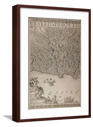 Map of Liguria, 3rd Part-Joseph Chaffrion-Framed Art Print