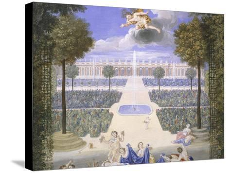 Trianon Garden in Versailles, France-Jean Cotelle-Stretched Canvas Print