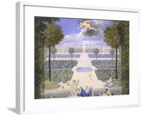Trianon Garden in Versailles, France-Jean Cotelle-Framed Art Print