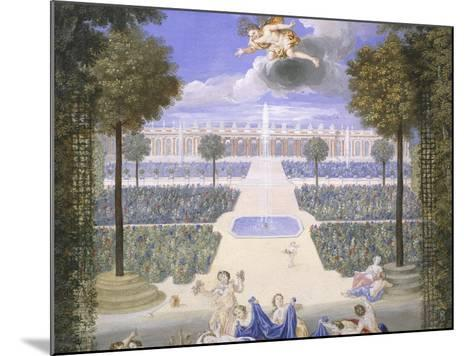 Trianon Garden in Versailles, France-Jean Cotelle-Mounted Giclee Print